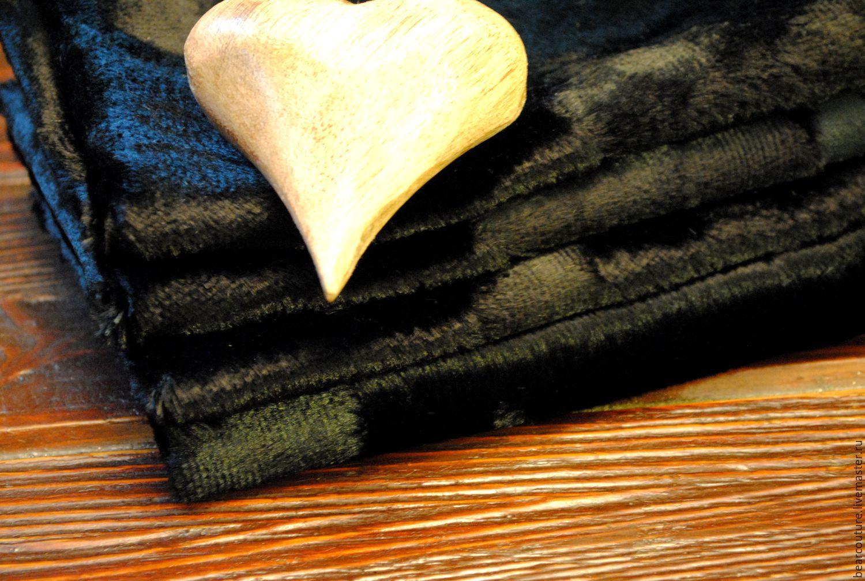 """Куклы и игрушки ручной работы. Ярмарка Мастеров - ручная работа. Купить Вискоза """"Черный винтаж"""". Handmade. Мех, мех для миниатюры"""