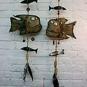Для дома и интерьера ручной работы. Ярмарка Мастеров - ручная работа Интерьерная подвеска Рыбы. Handmade.