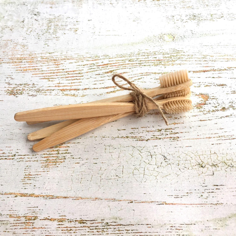 Зубная щетка бамбуковая, Зубные порошки, Москва,  Фото №1