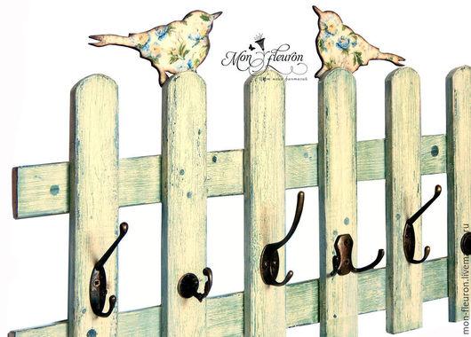 """Прихожая ручной работы. Ярмарка Мастеров - ручная работа. Купить Вешалка """"Птичьи посиделки"""". Handmade. Белый, вешалка в прихожую"""