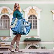 """Одежда ручной работы. Ярмарка Мастеров - ручная работа Лоскутное пальто """"Ундина"""". Handmade."""