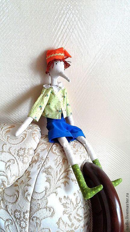 Куклы Тильды ручной работы. Ярмарка Мастеров - ручная работа. Купить Кукла-Буратино. Handmade. Кукла, кукла Тильда