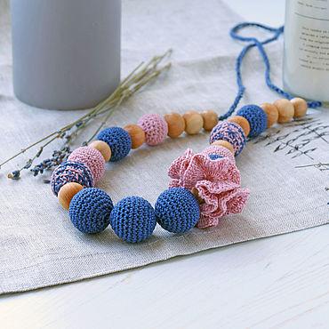 Товары для малышей ручной работы. Ярмарка Мастеров - ручная работа Слингобусы синий с пудровым. Handmade.