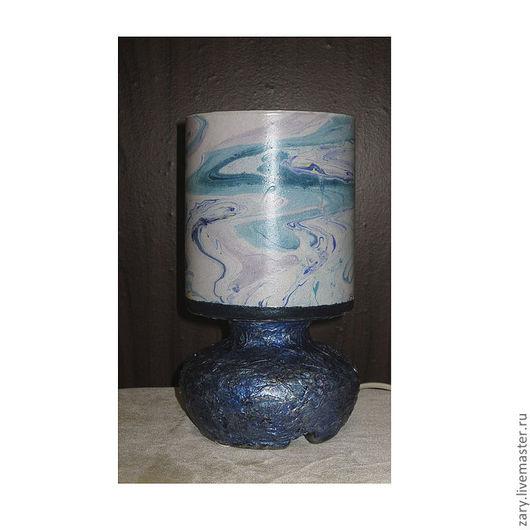 """Освещение ручной работы. Ярмарка Мастеров - ручная работа. Купить Настольная лампа """"Морской бриз"""". Handmade. Голубой, светится в темноте"""