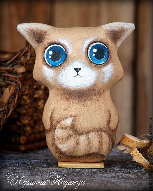 Ароматизированные куклы ручной работы. Ярмарка Мастеров - ручная работа. Купить Крошка-Енот. Винтажный малыш. Кофейная Интерьерная игрушка. Handmade.