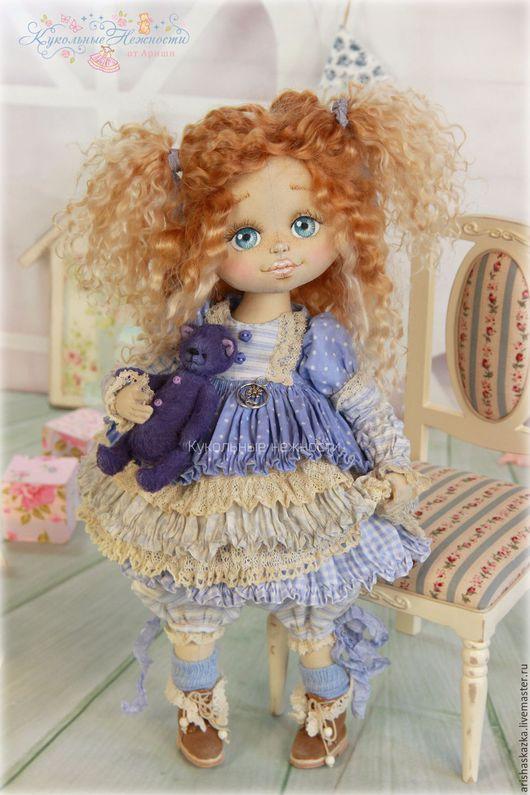 Коллекционные куклы ручной работы. Ярмарка Мастеров - ручная работа. Купить Полинка . Кукла авторская текстильная artdoll. Handmade. Шебби