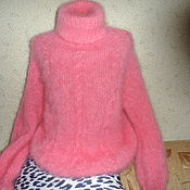 Одежда handmade. Livemaster - original item Pullover pink mohair. Handmade.