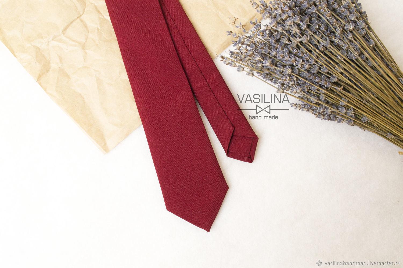 Burgundy tie, men's tie, Marsala, Ties, Rostov-on-Don,  Фото №1