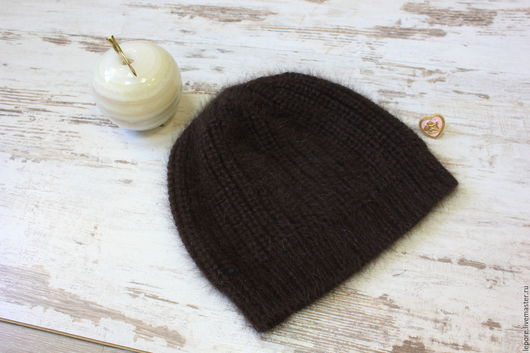 Вязаная шапочка ` Choko Charm` зимняя шапочка ручная вязка шапочка из ангорки
