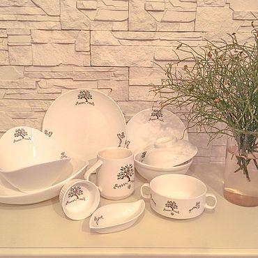 Посуда ручной работы. Ярмарка Мастеров - ручная работа Фарфоровый сервиз Семейное дерево. Handmade.