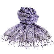 Аксессуары ручной работы. Ярмарка Мастеров - ручная работа Парео из натурального 100% шелка модного оттенка сезона Royal Lilac. Handmade.
