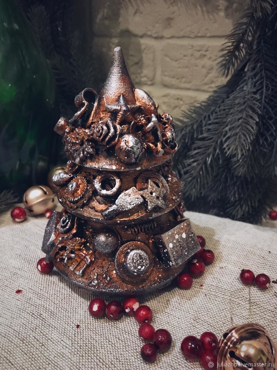 Angel Of Christmas.Steampunk Christmas Musical Tree Angel Of Christmas