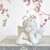 Для дома и интерьера handmade. Livemaster - original item Brooding angel mini table statue concrete, vintage style. Handmade.