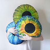 """Для дома и интерьера ручной работы. Ярмарка Мастеров - ручная работа круглые подушки """"Глаза"""". Handmade."""