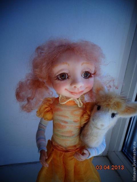 Коллекционные куклы ручной работы. Ярмарка Мастеров - ручная работа. Купить я люблю свою лошадку. Handmade. Лимонный, коллекционная кукла