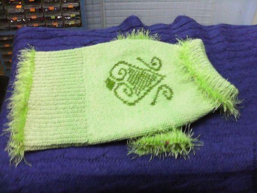 Одежда для собак, ручной работы. Ярмарка Мастеров - ручная работа. Купить Ну о-о-очень теплый свитерок для таксы!. Handmade. Салатовый