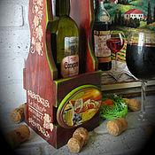 """Для дома и интерьера ручной работы. Ярмарка Мастеров - ручная работа Короб для вина """"Рrovence"""". Handmade."""