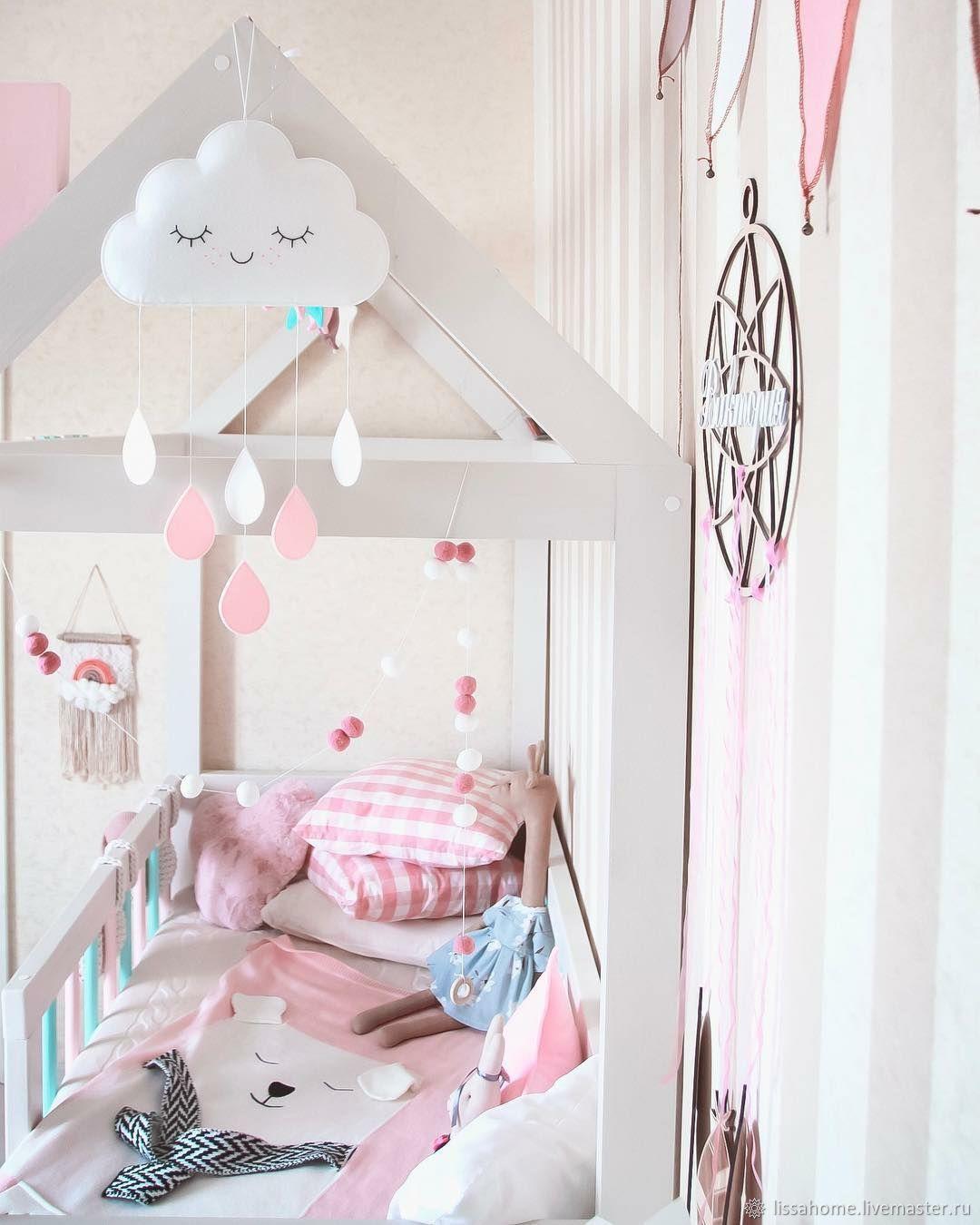 Облачко - White and pink - декор для детской комнаты, Элементы интерьера, Краснодар,  Фото №1