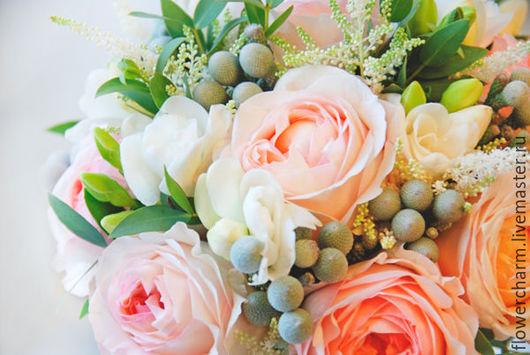 Букет невесты из нежных французских ароматных роз