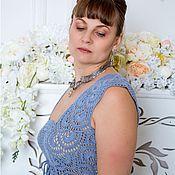 Одежда ручной работы. Ярмарка Мастеров - ручная работа Платье небесно-голубое. Handmade.