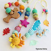 Одежда handmade. Livemaster - original item Slingobusy educational, with the toy and teething toy