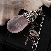 Украшения handmade. Livemaster - original item Pendant with a rose quartz stone