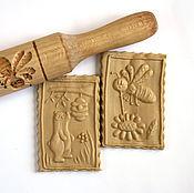 Для дома и интерьера handmade. Livemaster - original item Rolling pin for cookies and gingerbread bear and bee. Handmade.