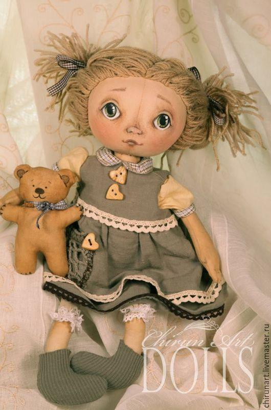 """Коллекционные куклы ручной работы. Ярмарка Мастеров - ручная работа. Купить """"Ясна"""". Handmade. Бежевый, ручная работа, маленькая девочка"""
