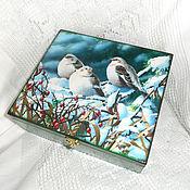 Для дома и интерьера handmade. Livemaster - original item Box thread of the Winter Rhapsody. Handmade.