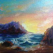 Картины и панно ручной работы. Ярмарка Мастеров - ручная работа морской солнечный закат. Handmade.