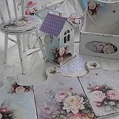 Для дома и интерьера handmade. Livemaster - original item Set Rose shabby. Handmade.