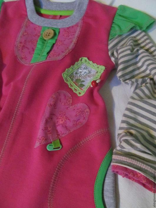 Одежда для девочек, ручной работы. Ярмарка Мастеров - ручная работа. Купить платье для девочки. Handmade. Фуксия, розовый, платье для девочки