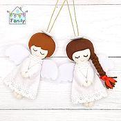 Сувениры и подарки handmade. Livemaster - original item Christmas angels. Christmas decoration from felt.. Handmade.