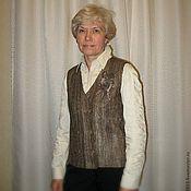 """Одежда ручной работы. Ярмарка Мастеров - ручная работа Валяный жилет  """"Классический"""". Handmade."""