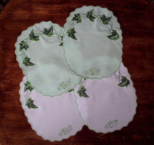 """Текстиль, ковры ручной работы. Ярмарка Мастеров - ручная работа. Купить Салфетка """"Плющ"""". Handmade. Салфетка, салфетка овальная"""