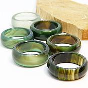 Украшения handmade. Livemaster - original item Green agate ring 20.25. Handmade.
