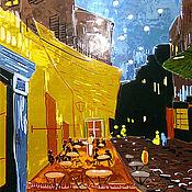 """Картины и панно ручной работы. Ярмарка Мастеров - ручная работа """"Ван Гог""""   стекло, техника фьюзинг. Handmade."""
