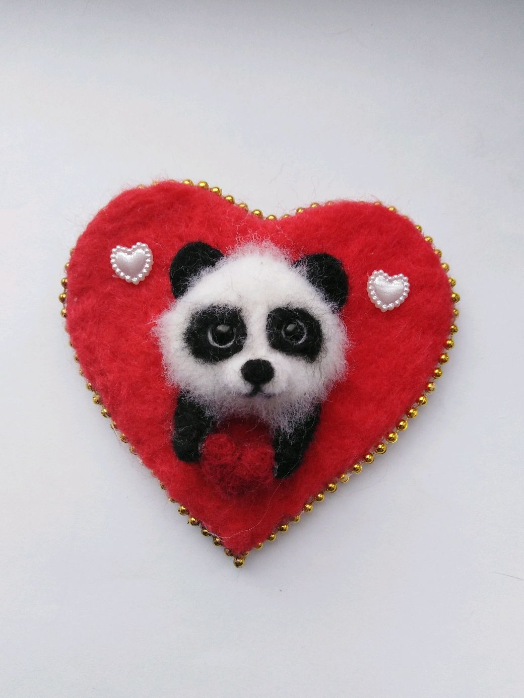 Магнит валентинка из шерсти, Магниты, Пенза,  Фото №1