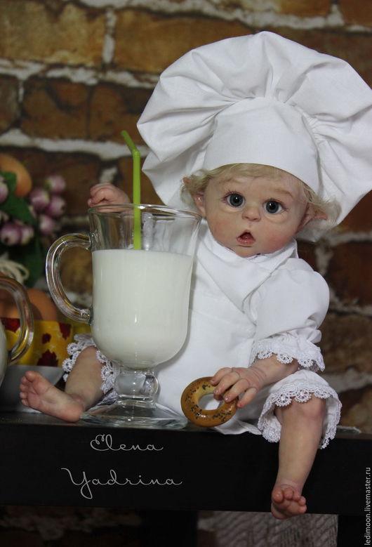 Куклы-младенцы и reborn ручной работы. Ярмарка Мастеров - ручная работа. Купить Поваренок (по мотивам работы Прототип мини Офелии). Handmade.