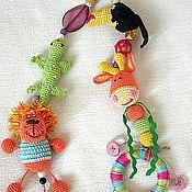 """Одежда ручной работы. Ярмарка Мастеров - ручная работа Слингобусы """"с игрушкой """"Изучаем афро-фауну"""". Handmade."""