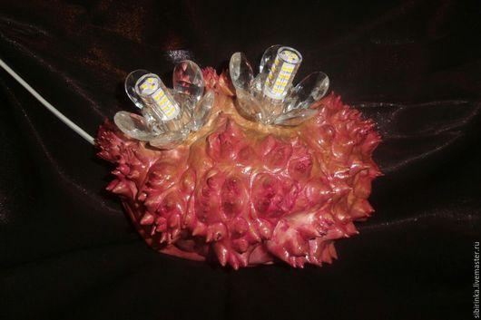 Освещение ручной работы. Ярмарка Мастеров - ручная работа. Купить Светильник  бра из капа. Handmade. Розовый, бра из дерева