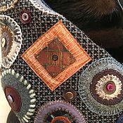 """Одежда ручной работы. Ярмарка Мастеров - ручная работа Пальто зимнее с мехом """"В круге"""". Handmade."""