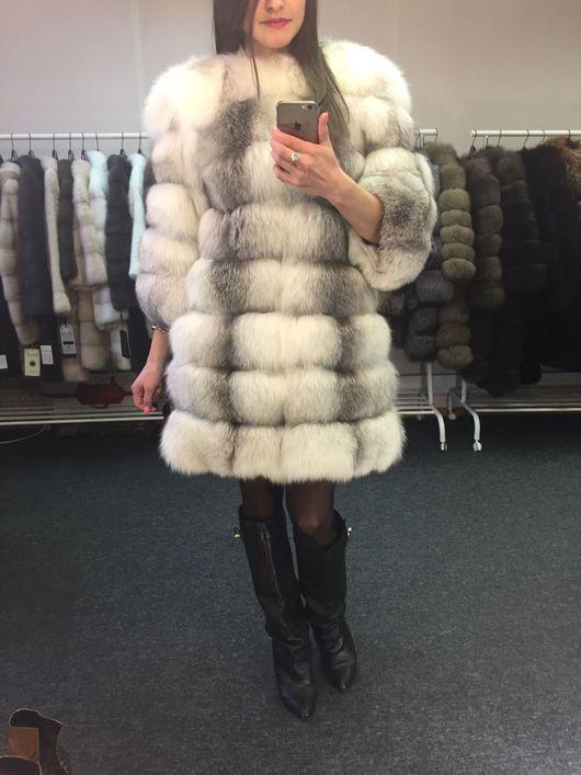 Верхняя одежда ручной работы. Ярмарка Мастеров - ручная работа. Купить Шуба из арктической лисы. Handmade. Шуба, шуба с капюшоном