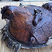 Посуда ручной работы. Ярмарка Мастеров - ручная работа Блюдо с крышкой Курочка. Handmade.