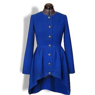 Одежда ручной работы. Ярмарка Мастеров - ручная работа Пальто с каскадным подрезом. Handmade.