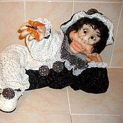 """Куклы и игрушки ручной работы. Ярмарка Мастеров - ручная работа Кукла интерьерная текстильная """"Черно-белый"""". Handmade."""