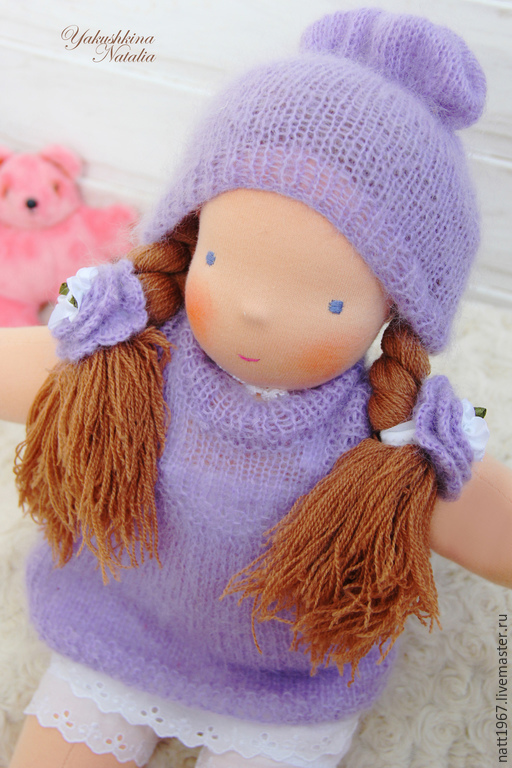 Вальдорфская игрушка ручной работы. Ярмарка Мастеров - ручная работа. Купить Софья - вальдорфская куколка 47 см.. Handmade. Сиреневый