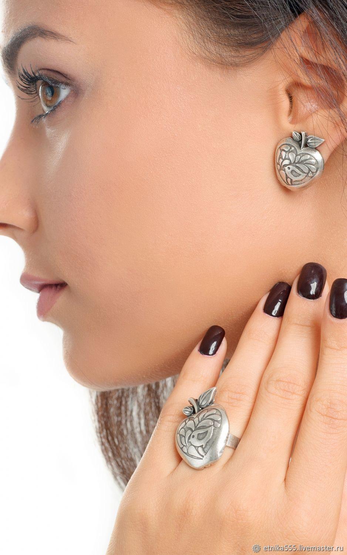 Earrings-ear-stud Paradise apples, Stud earrings, Belaya Cerkov,  Фото №1