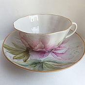 """Чайные пары ручной работы. Ярмарка Мастеров - ручная работа Чайная пара """" Пион"""". Handmade."""
