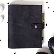 Notebooks handmade. Livemaster - original item Mens leather notebook on the rings pockets hand-sewn seam. Handmade.